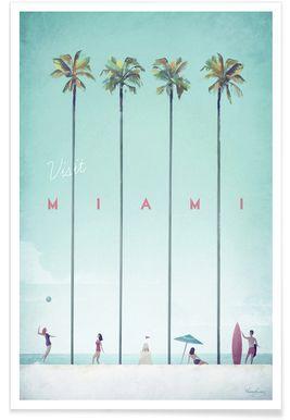 Miami - Henry Rivers - Premium Poster