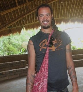Michael Franti. American componist, musician and writer, at Green School.
