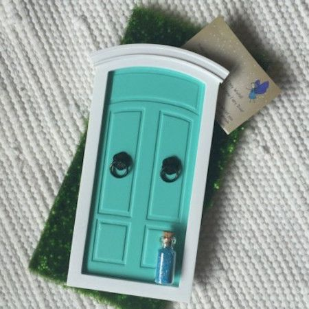 How absolutely gorgeous are these little fairy doors!! We put one in our daughters room and could't believe something so simple could ignite so much imagination! Little miss goes off to sleep as quick as she can because the little fairies outside are waiting to come in out of the cold !! #winning Available in a range of colours from spunkybubs.com.au #kidsdecor #nursery #imagination