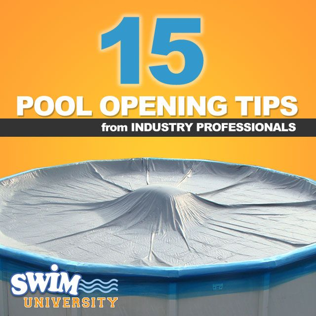 A true sign that summer is coming. It's uncovered with filter running... Pool opening tips-- helpful.