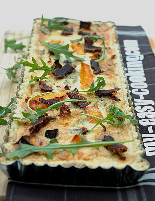 Biltong and Butternut Quiche - for recipe go to www.my-easy-cooking.com/2011/08/biltong-and-butternut-quiche/