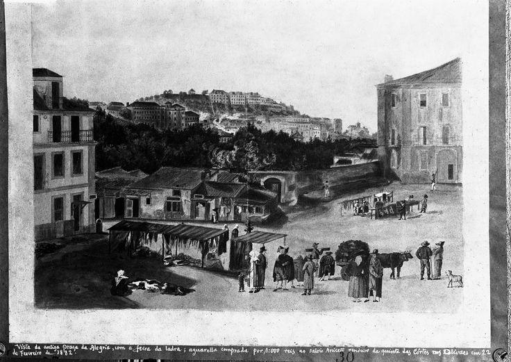 Feira da Ladra na Praça da Alegria - 1885