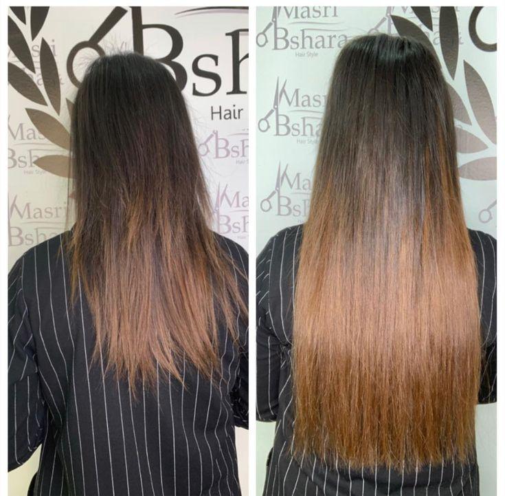 Masri Bshara Hiar Brand Salon تركيب شعر بلكرتين طريقه التركيب الاحسن للشعر بلكرتين نفسو Masri Bshara Hiar Brand Salon ت Hair Hair Styles Long Hair Styles