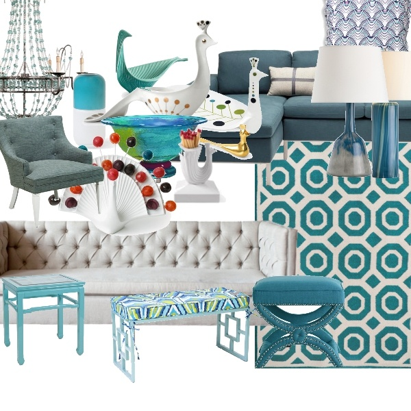 Peacock Turquoise Living Room And Fun Accessories. Click The Image To Get  Info About Each