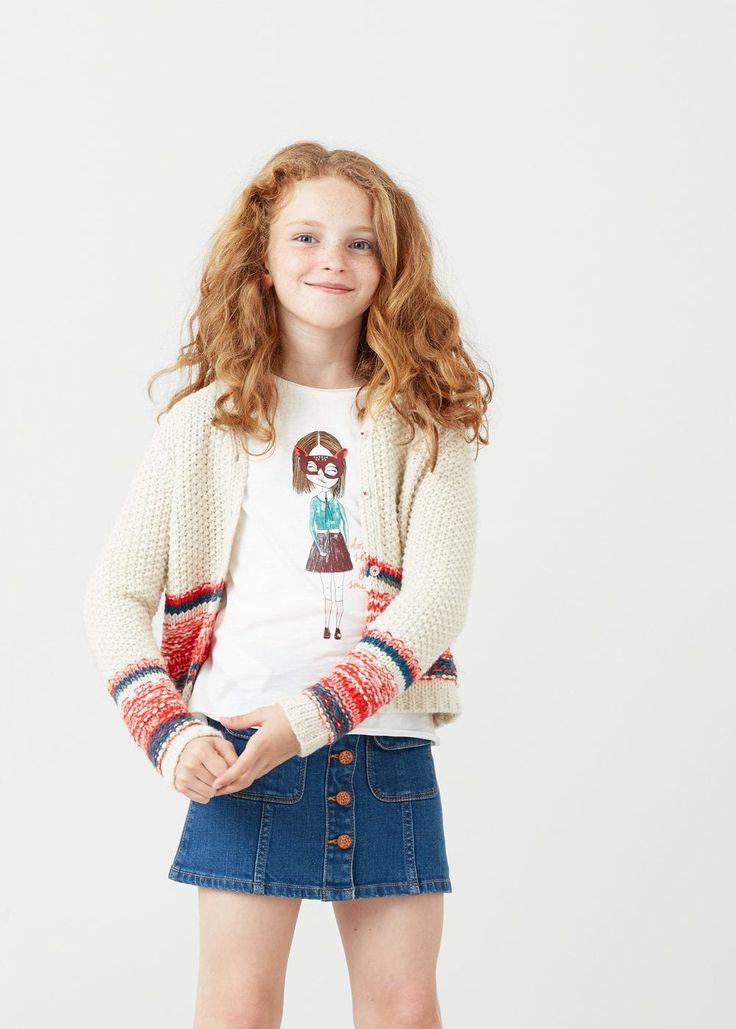 Chunky knit cardigan | MANGO KIDS