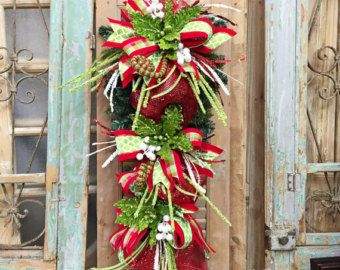 Christmas Swag Wreath Centerpiece Mantle by SparkleWithStyle