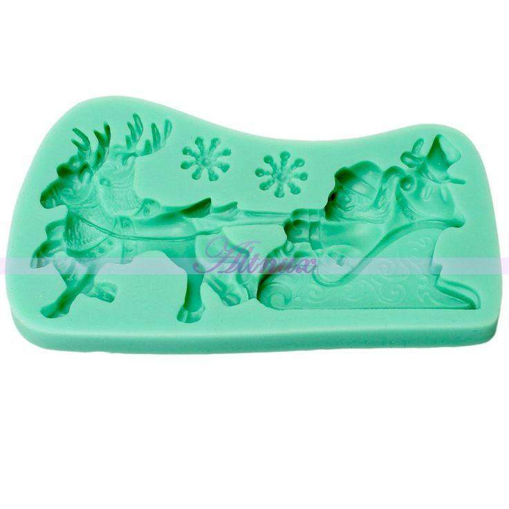 Generic Silicone 3D Father Christmas Lace Mold Fondant cake Sugarcraft Decorating Mould * Instant discounts available  : Bakeware