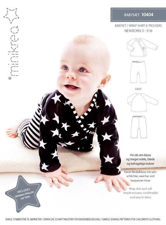 Wikkel shirt en zachte eenvoudige broek, comfortabel en gemakkelijk aan te kleden.