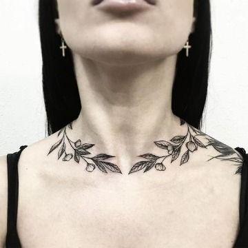 Algunos Hermosos Tatuajes En El Cuello De Mujer Tatuajes Para