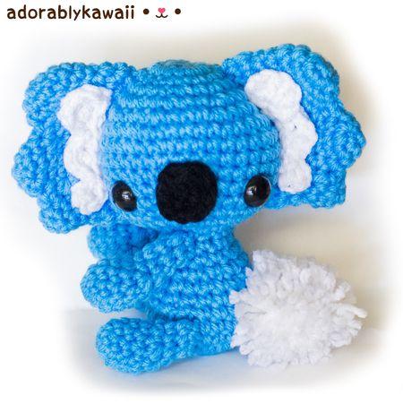 Free Crochet Patterns Australian Animals : Koala Amigurumi Pattern by Adorably Kawaii Amigurumi ...