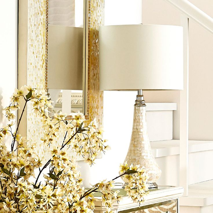 Mother Of Pearl Accent Lamp: Mother-of-Pearl Accent Lamp