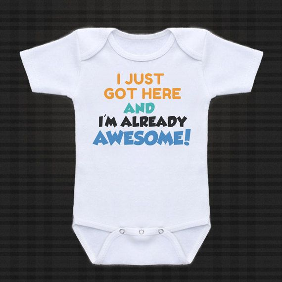 I just got here..  cute funny baby one piece by cuteandfunnykids, $14.95