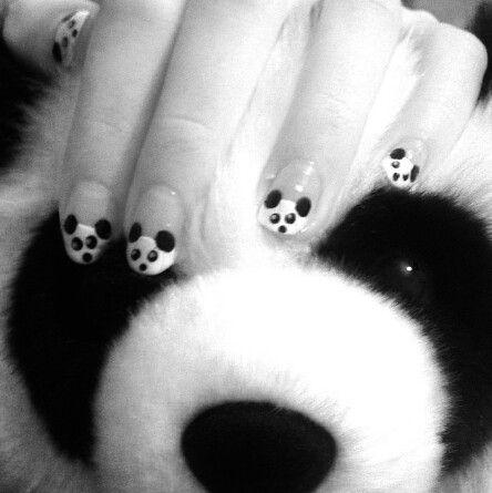Nagellak kunst / panda / nail art / panda