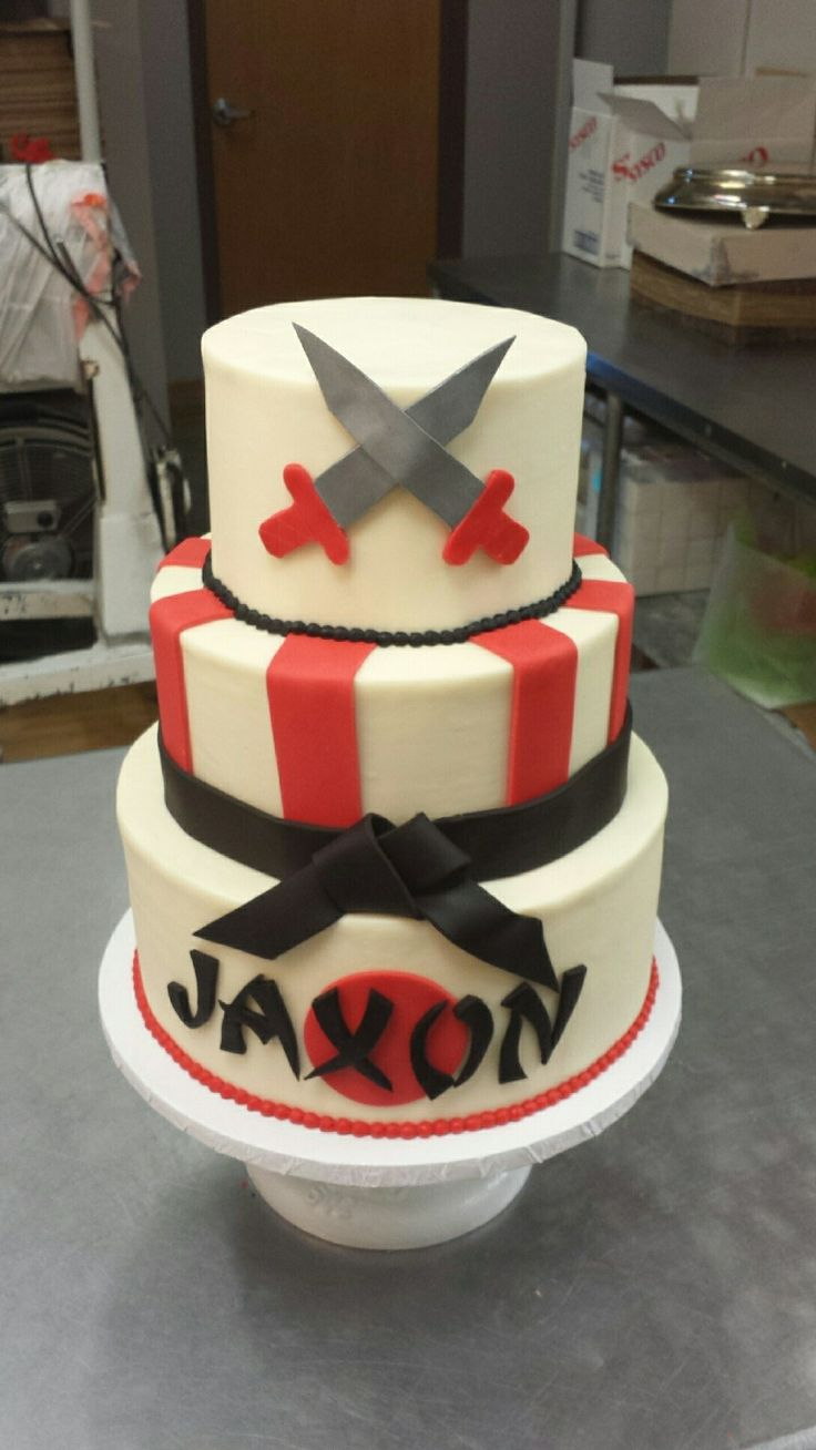 Martial Art Cake Ideas : Martial arts birthday cake by 3 Women and an Oven. www ...