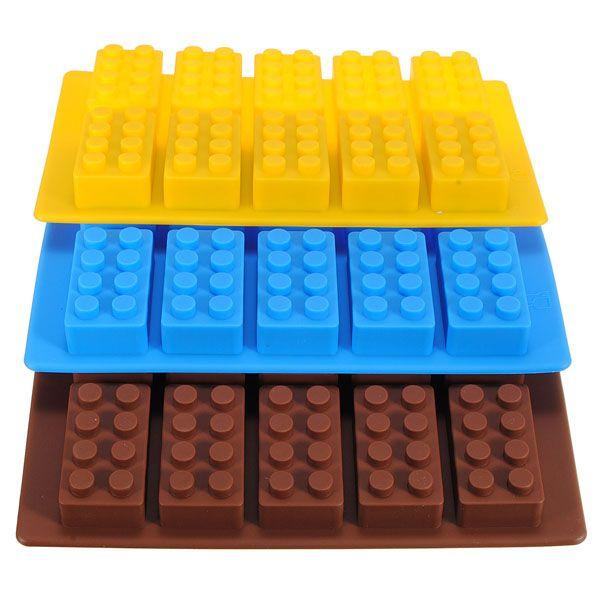 Wholesale Lego Brick Pattern Silicone Ice Cube Jelly Tray Maker