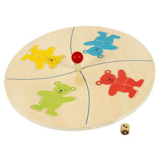 De bedoeling van het spel is dat door middel van een dobbelsteen te rollen elke speler haar beer maakt door de vijf puzzelstukken in de puzzel te leggen. Om het spel niet al te gemakkelijk te maken, moeten de puzzelstukken omgedraaid worden. Op de dobbelsteen staat een pijl in plaats van de zes. Als je deze pijl rolt dan moet je aan de carrousel draaien.