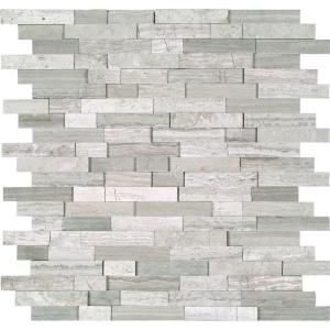 MS International White Quarry Splitface 12 in. x 12 in. x 10 mm Marble Mesh-Mounted Mosaic Tile-WQ-SFIL10MM at The Home Depot