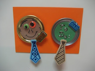 Father's Day Craft - lid magnets