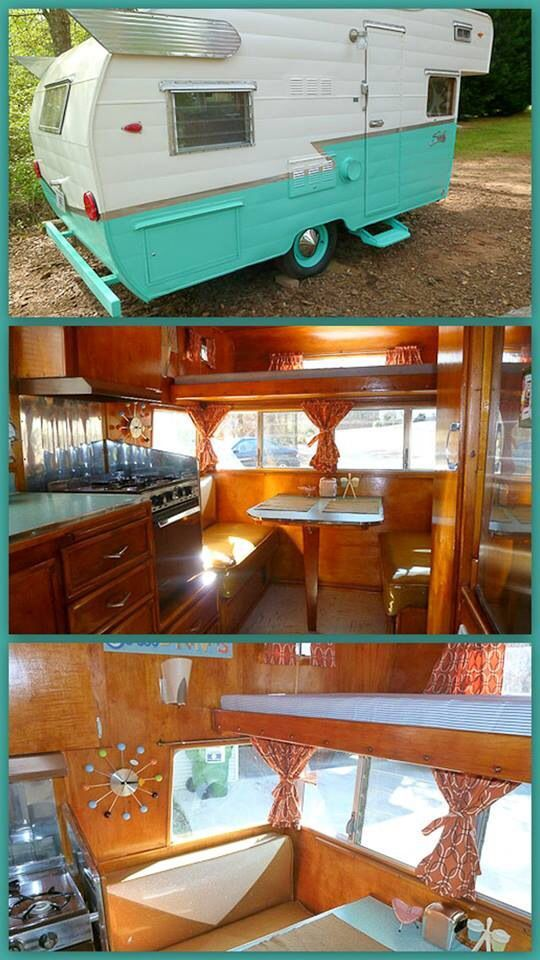 OK--maybe not vroom vroom, but it looks cool ... Vintage Shasta Trailer #vintagetraveltrailers