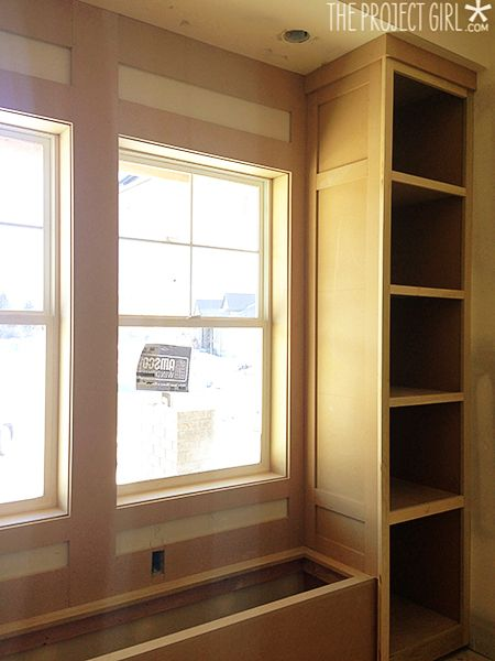 Built In Window Seat With Bookshelves For The Home
