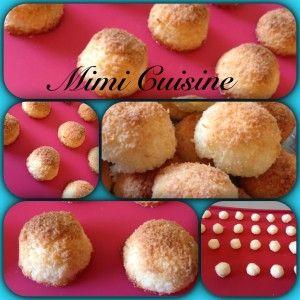 Boules noix de coco. Retrouvez mes recettes sucrée et salées Companion, Cookeo, Thermomix, MultiDélices, avec ou sans appareil culinaire sur Mimi Cuisine