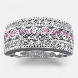 JESSICA®/MD Women's Pink Cubic Zirconia Ring In Sterling Silver - Sears | Sears Canada