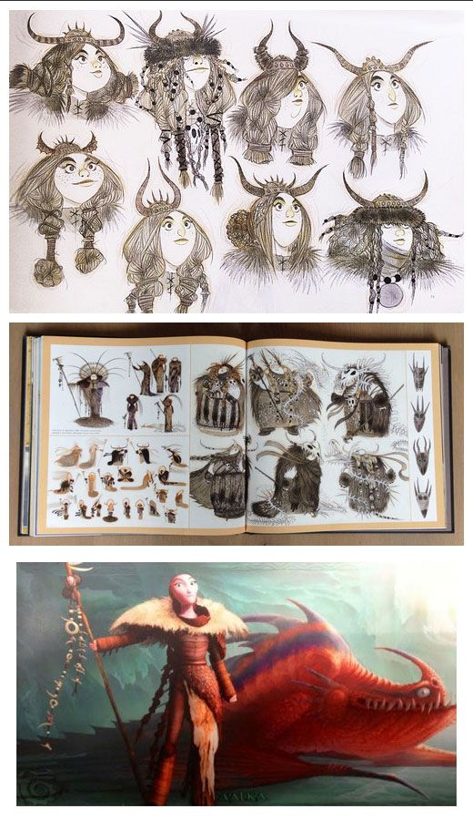 Valka concept art via 'The Art of How to Train Your Dragon 2' (This book is GORGEOUS!)