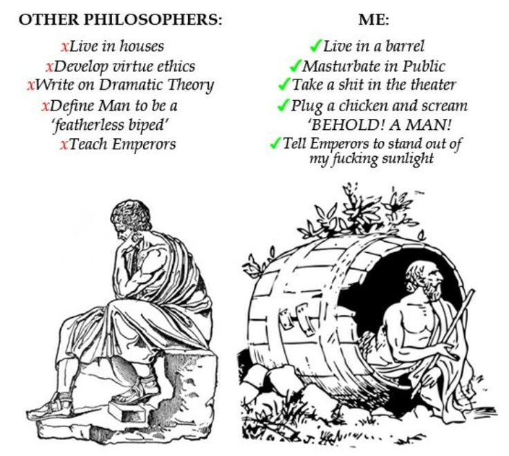 Diogenes of Sinope: the /b/tard of ancient philosophers