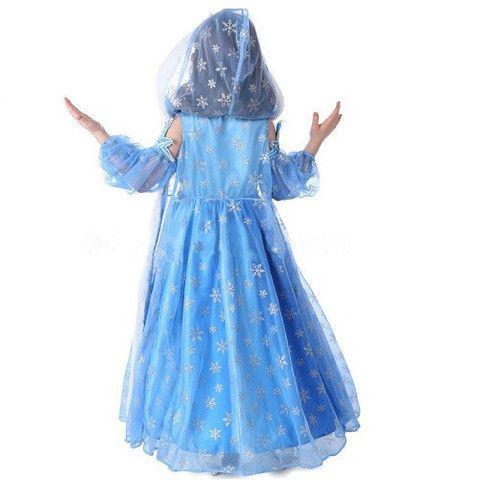 Frozen Elsa Snow Queen Dress with Cape