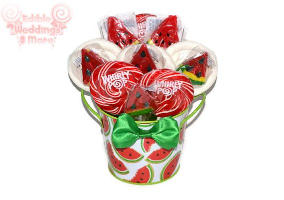 Watermelon Lollipop Centerpiece Candy Watermelon by EdibleWeddings, $24.99