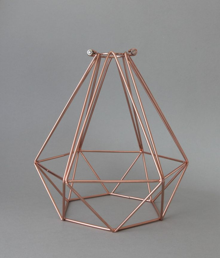 CAGE LIGHT SHADE DIAMOND | Polished Copper