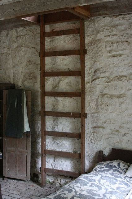 This looks like a simple way to access the attic bedroom since there's no room for stairs.