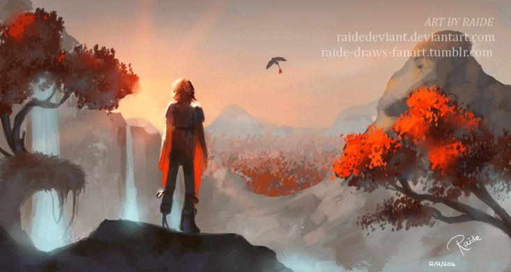 I was just doodling some landscapes, but then this happened :) Thanks again to my sister @leffie-draws-fanart who made the GIF for me