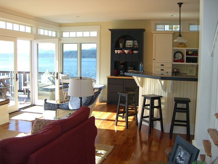 167 best images about nautical kitchens on pinterest for Living room kitchen combo ideas