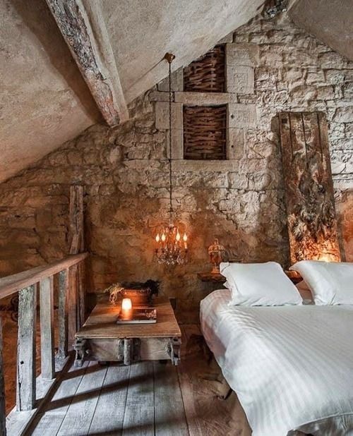 sunflowersandsearchinghearts:  Rustic Romantic Bedroom via pinterest
