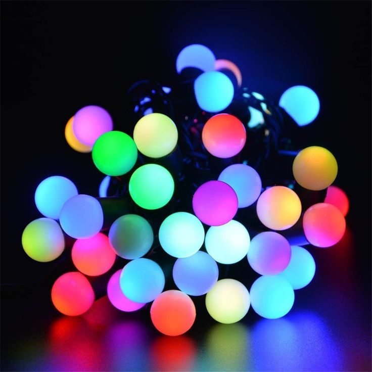 SurLight LED Globe String Lights with Fast Flashing 17ft 50LEDs, Waterproof Color Changing Ball String Light for Holiday Christmas New Year Wedding Garden Lawns Patio Indoor & Outdoor Decoration (RGB)