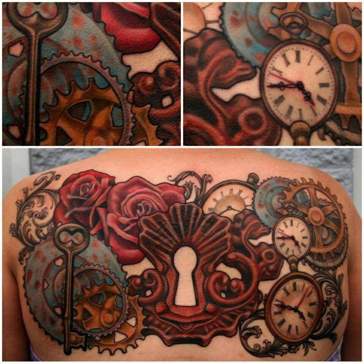 28 Steampunk Tattoo Designs Ideas: 28 Best SteamPunk Gear Tattoos Images On Pinterest