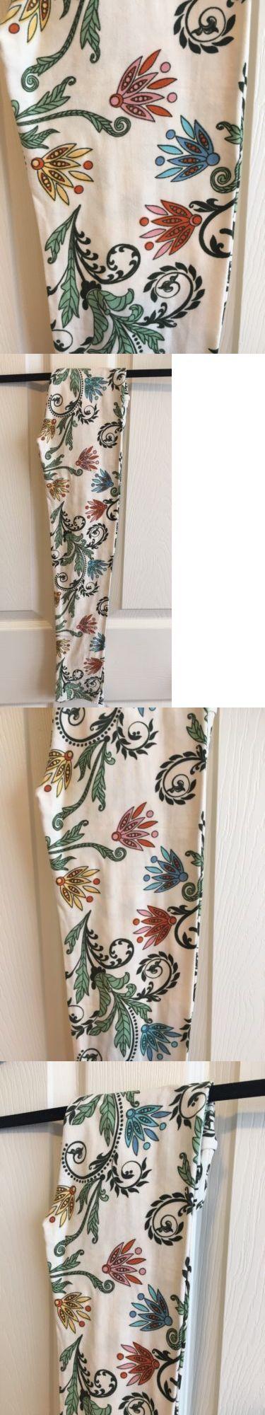 Leggings 152719: *New!* Lularoe Paisley Scroll Floral Vines Cream Leggings - Kids L Xl - Unicorn! -> BUY IT NOW ONLY: $34 on eBay!
