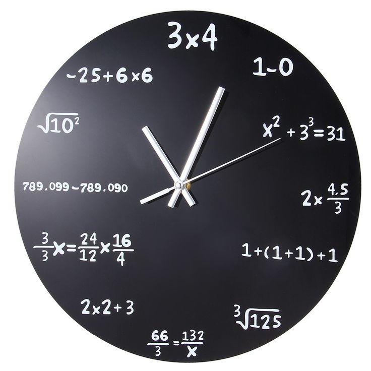Creative Mathematics Blackboard Wall Clock