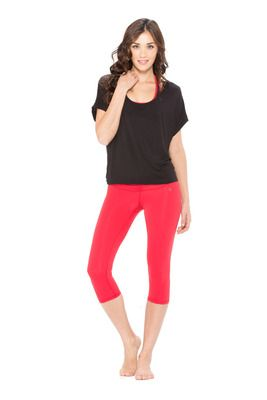 Body Language Versa Tee in Black - $79.95 - As spotted on celebrities including J-Lo, Body Language had to include this popular and versatile tee in the Garden Collection. #fireandshine #yoga #fashion #ethical #activewear #loungewear #bodylanguage #black