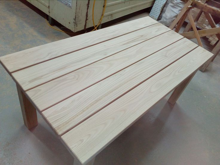Outdoor dining table made from chestnut wood