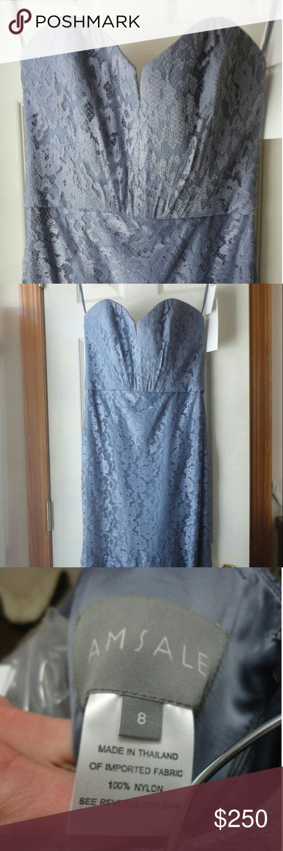 Amsale G962L 8xl Extra length, Brand new with tags, never worn, never altered Amsale  Dresses Wedding