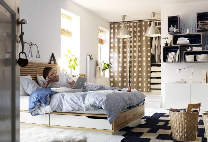 mandal bed  interior  ikea  Pinterest  Solid Wood ...