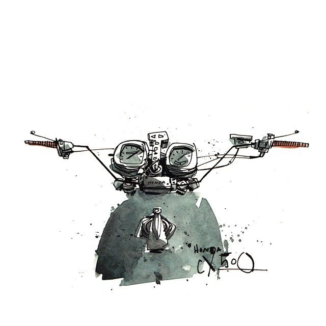 Moto-Mucci: ART&DESIGN: Motorcycle Illustrations by Tomas Pajdlhauser