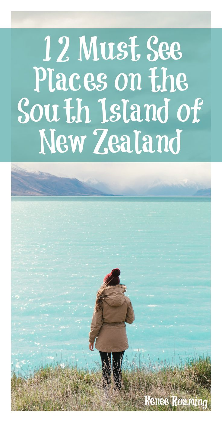 You can't miss these EPIC destinations on the South Island of New Zealand. Read more for road trip, destination & travel advice. Renee Roaming - http://wwww.reneeroaming.com. Travel / Wanderlust / Dream Destination / Bucket List