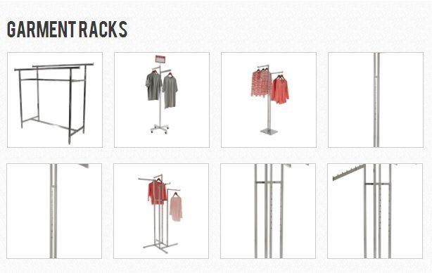 Garment Racks and Floor Fixtures - http://www.idealdisplays.com/store/c22/Garment_Racks_%26_Floor_Fixtures.html