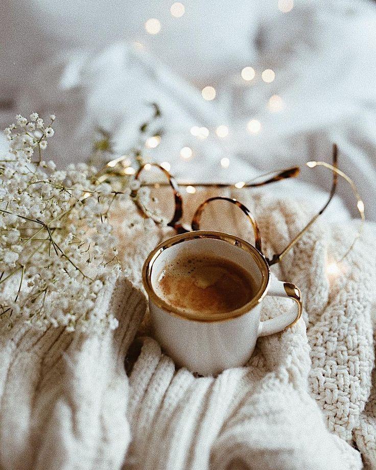 Открытки, зима утро картинки кофе