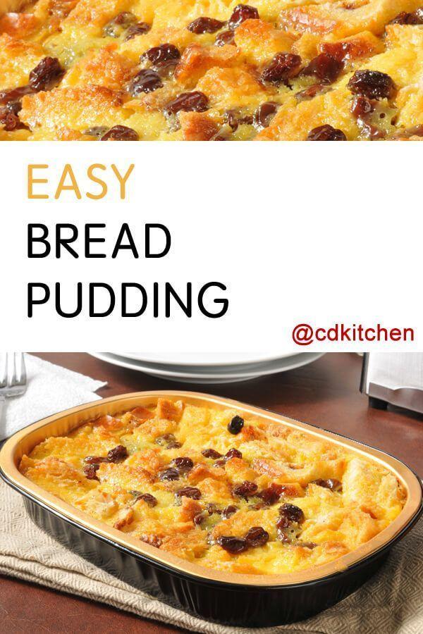 Recipe is made with raisins, vanilla, bread, eggs, sugar, milk |  CDKitchen.com