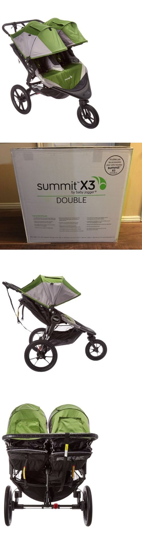 baby kid stuff: New 2016 Baby Jogger Summit X3 Double Stroller (Green) Free Shipping -> BUY IT NOW ONLY: $519 on eBay!