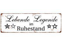METALLSCHILD LEBENDE LEGENDE Rentner Rente